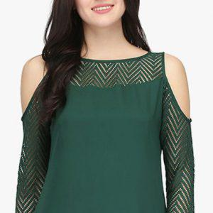 Cold Shoulder Neck Design