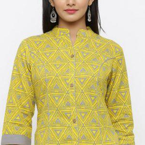 Collared Neck Kurti Design