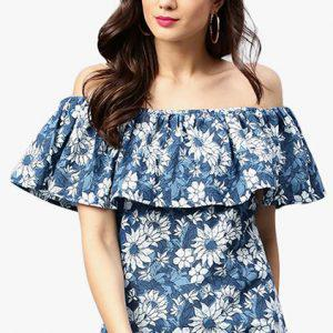 Off- Shoulder Kurti Neck Design