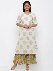 Flared Kurti with Flared Palazzo